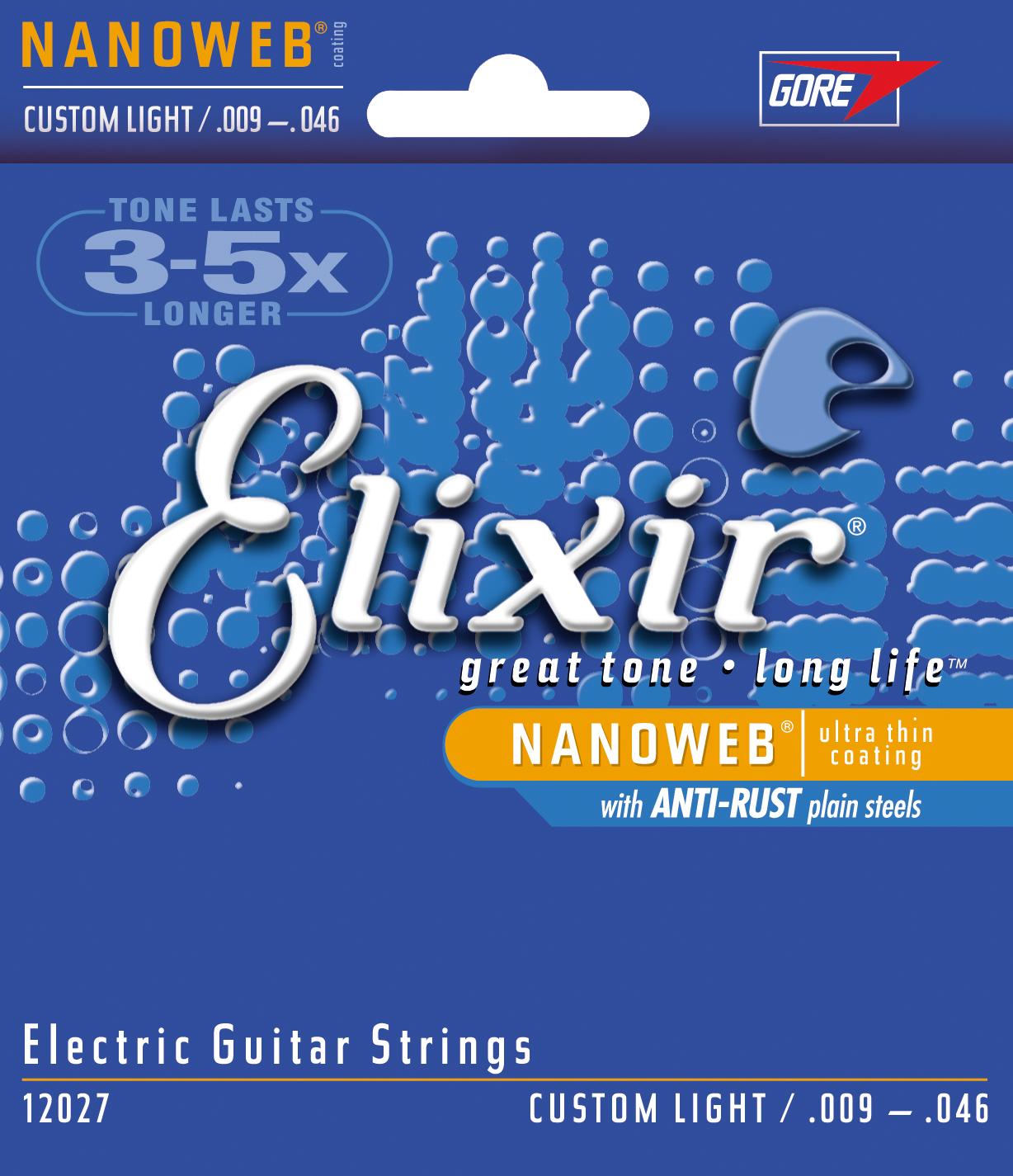Elixir 12027 Nanoweb snarenset voor elektrische gitaar