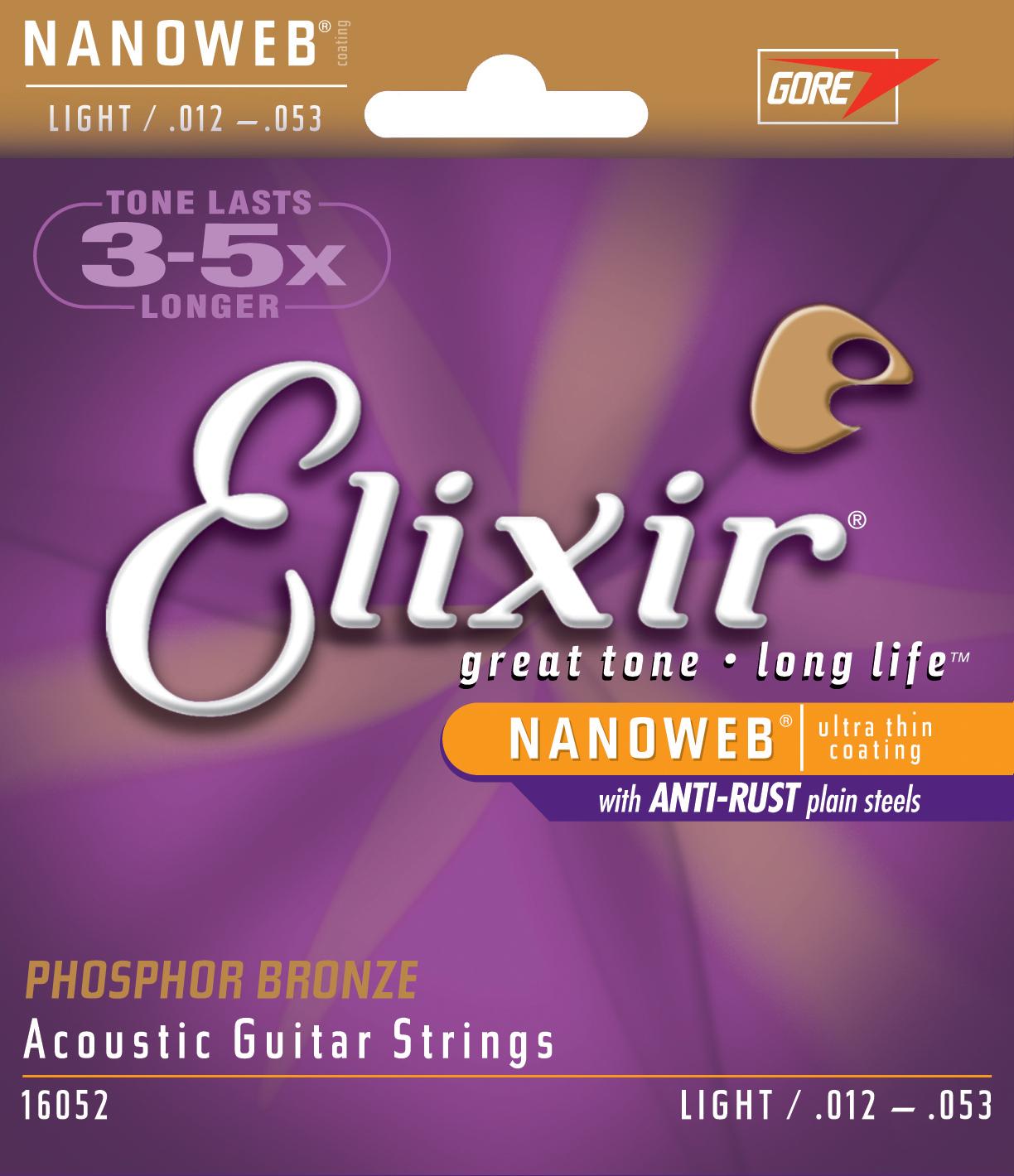 Elixir 16052 Nanoweb snarenset voor akoestische western gitaar