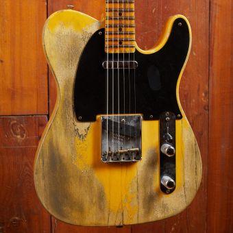 """Fender CS 1952 Telecaster LTD Maxguitar exclusive run """"FUBAR"""" Relic Butterscotch"""