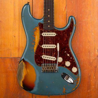 Fender CS Namm 2021 LTD 1961 Stratocaster, Heavy Relic, Showpiece #54, Aged Lake Placid Blue over 3-Color Sunburst