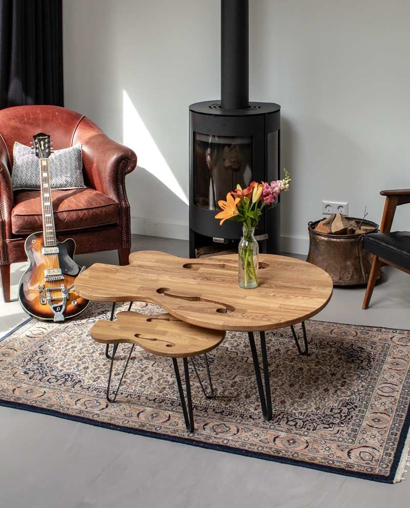 Salontafel Design On Stock.Ruwdesign Hollow Body Guitar Coffee Table Max Guitar