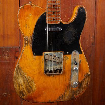 """Fender CS 1952 Telecaster Vincent van Trigt Masterbuilt LTD Max Guitar Exclusive  """"FUBAR"""" Relic Butterscotch Blonde"""