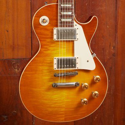 Gibson CS 1958 Les Paul Flame Top, Lemon Orange Burst