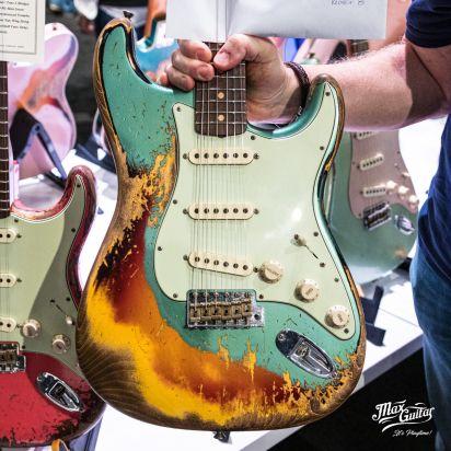 Fender CS 1960/1953 Stratocaster, Super Faded/Aged Sherwood Green over 3tsb, Super Heavy Relic