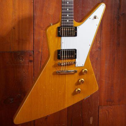 Gibson CS 1958 Korina Explorer White Pickguard