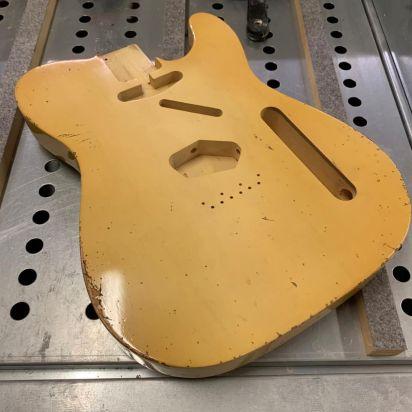 Maxwell 'The Plank'- Medium Aged Butterscotch creme Finish