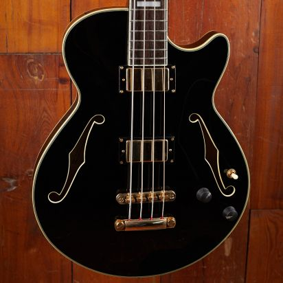D'Angelico Semihollow Bass Black