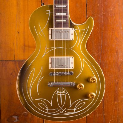 Gibson Custom Billy Gibbons Pinstripe Goldtop Aged/signed 20/50