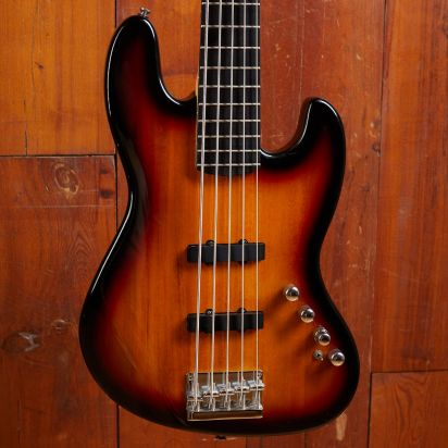 Squier Deluxe Jazz Bass V Sunburst