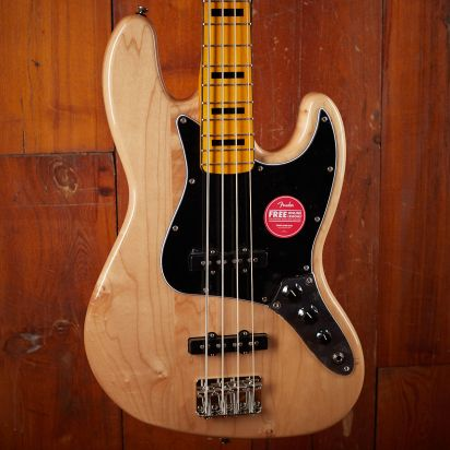 Squier Classic Vibe 1970s Jazz Bass Maple Neck Natural