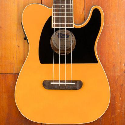 Fender Fullerton Tele Ukelele Walnut Fingerboard Butterscotch Blond