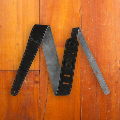 Fender 2' Suede Strap  Black/Gray  Reversible
