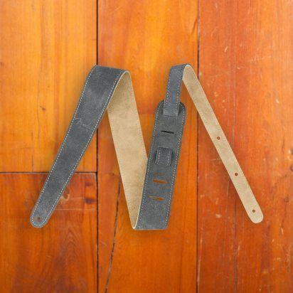 Fender 2' Suede Strap  Gray/Tan  Reversible