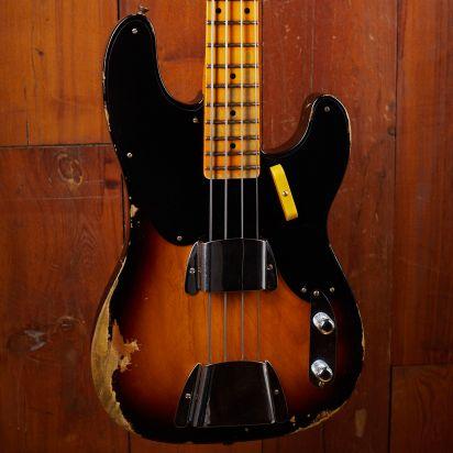Fender CS 1951 Precision Bass, Faded Aged 2-Tone Sunburst, Heavy Relic