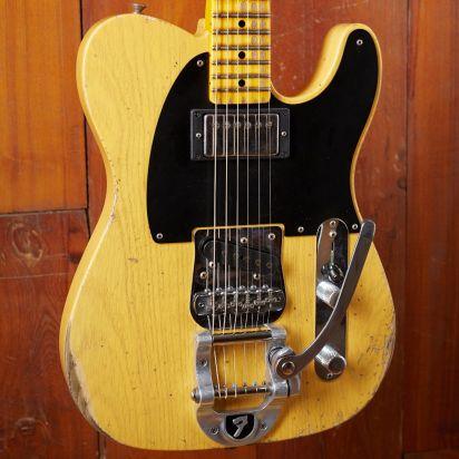 Fender CS LTD 1950s Vibra Telecaster, Aged Butterscotch Blonde, Heavy Relic