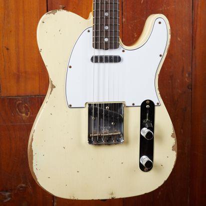 Fender CS 1967 Tele Relic RW Aged Vintage White