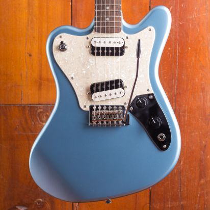 Squier Paranormal Super-Sonic Indian Laurel Fingerboard Ice Blue Metallic
