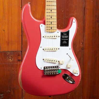 Fender Vintera Road Worn 1950s Stratocaster Maple Fingerboard Fiesta Red