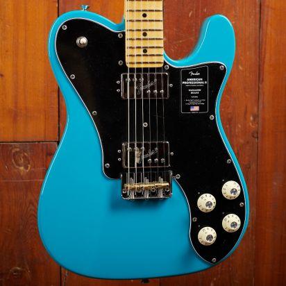 Fender American Professional II Telecaster, Deluxe, Maple Neck, Miami Blue
