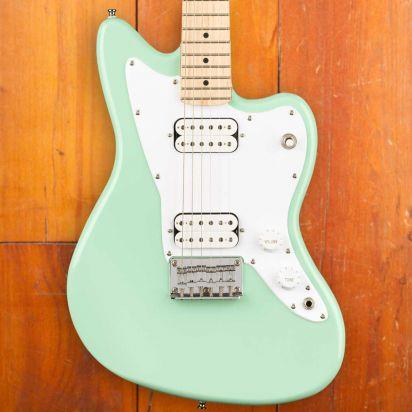 Squier Mini Jazzmaster HH, Maple Fingerboard, Surf Green