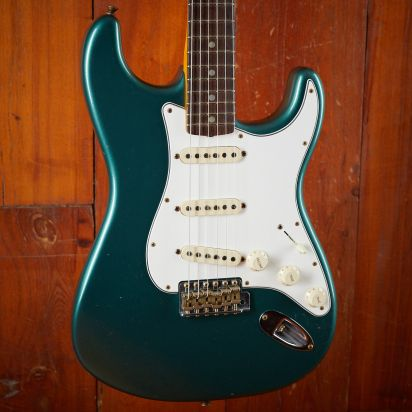 Fender CS 1965 Strat JRN Relic Sherwood Green metallic #109831