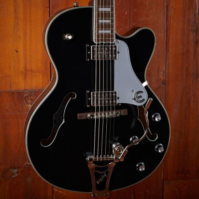 Epiphone Emperor Swingster, Black Aged Gloss