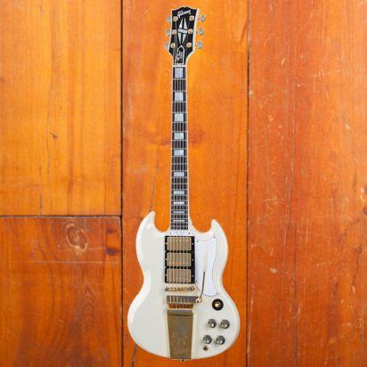 Gibson CS 1963 LP SG Custom Reissue, Classic White, Murphy Lab Ultra Light Aged