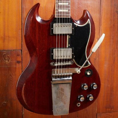 Gibson CS 1964 SG Standard Reissue, Faded Cherry, Murphy Lab Heavy Aged