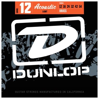 Dunlop DAB1254, 80/20 Bronze, Light, 12-54