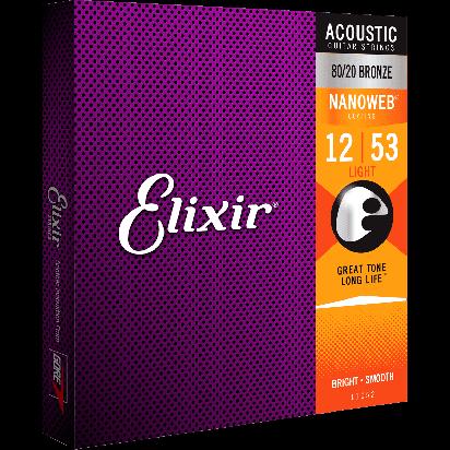 Elixir 012-053, Light, Nanoweb 80/20