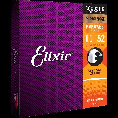 Elixir 011-052, Custom Light, Phosfor Bronze