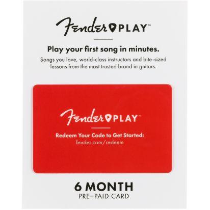 Fender Play 6 Months Prepaid Card