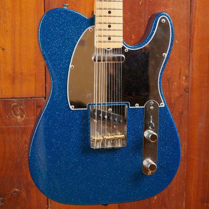 Fender J Mascis Telecaster, Maple Fingerboard, Bottle Rocket Blue Flake