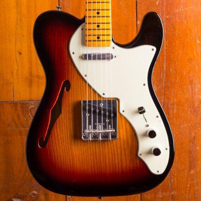 Fender American Original 1960s Tele Thinline, Maple Neck, 3 Tone Sunburst
