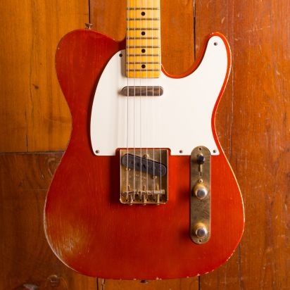 Fender CS 52 Telecaster Relic Tangerine Orange metallic