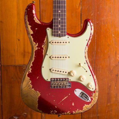 Fender LTD 63 Stratocaster Super Heavy Relic Super Faded Aged Red Sparkle