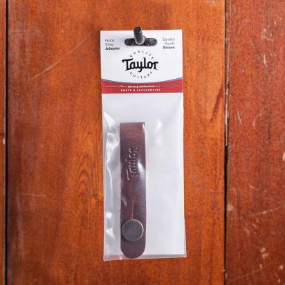 Taylor Taylor Guitar Strap Adapter - Medium Brown Nubuck