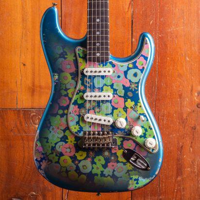 Fender CS 1969 Blue Flower Stratocaster, Relic