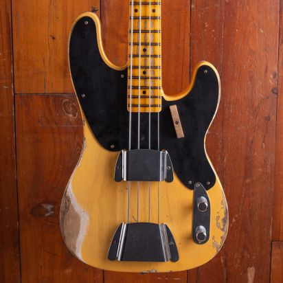 Fender CS 1951 Precision Bass, Aged Nocaster Blonde, Heavy Relic