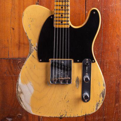 Fender Custom Shop 2020 LTD 1950 Esquire Heavy Relic Aged Nocaster Blonde serial: R106600