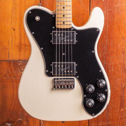 Fender Vintera Road Worn 1970s Telecaster Deluxe Maple Fingerboard Olympic White