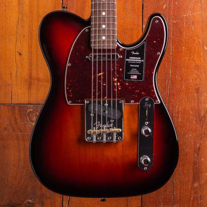 Fender American Professional II Telecaster, Rosewood, 3 Tone Sunburst