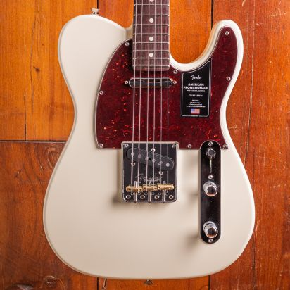 Fender American Professional II Telecaster, Rosewood, Olympic White