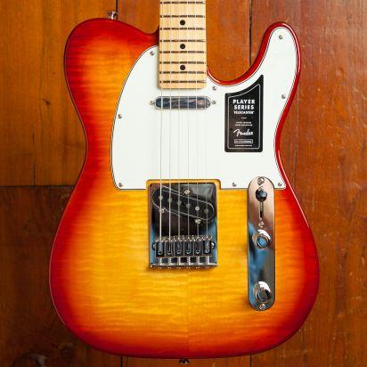 Fender LTD Player Tele Plus Top Maple Neck Cherry Sunburst