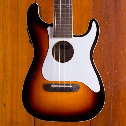 Fender Fullerton Strat Ukelele Walnut Fingerboard Sunburst