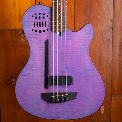 Godin A4 Trans Purple Flame LTD