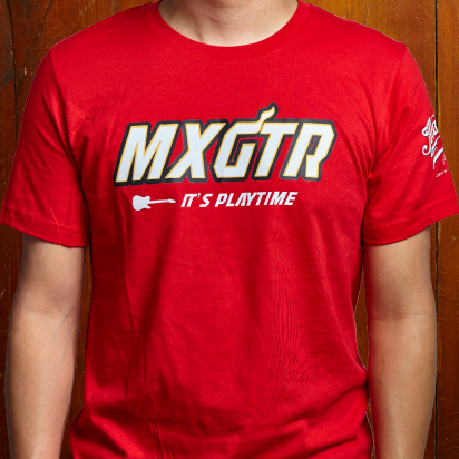 Max Guitar MXGTR T-shirt red medium