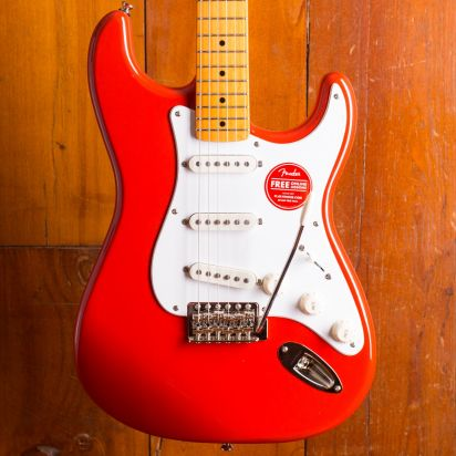 Squier Classic Vibe 1950s Stratocaster Maple Neck Fiesta Red
