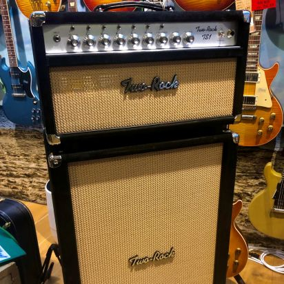 Two-Rock TS-1 100W Head & 212 Cab Black Suede Tan cloth