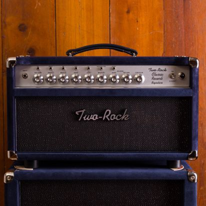 Two-Rock Classic Reverb 50W head + 212 Navy Suede Cab